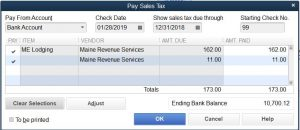 Pay Use Tax with Sales Tax in QuickBooks Pro