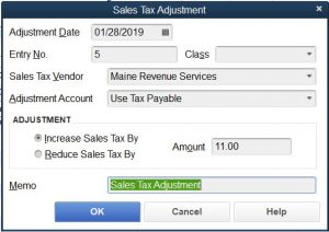 Make a sales tax adjustment to add Use Tax Payable to Sales Tax Payable in QuickBooks